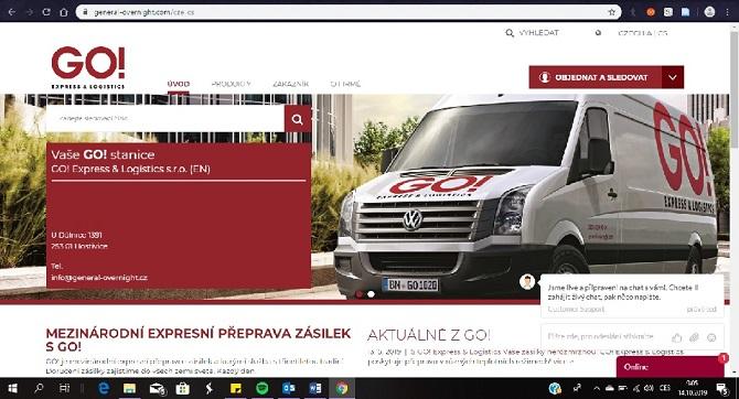 Webové stránky GO! Express & Logistics v novém kabátě!