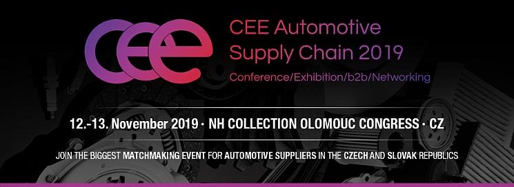 CEE Automotive Supply Chain se uskuteční 12.–13. listopadu v Olomouci