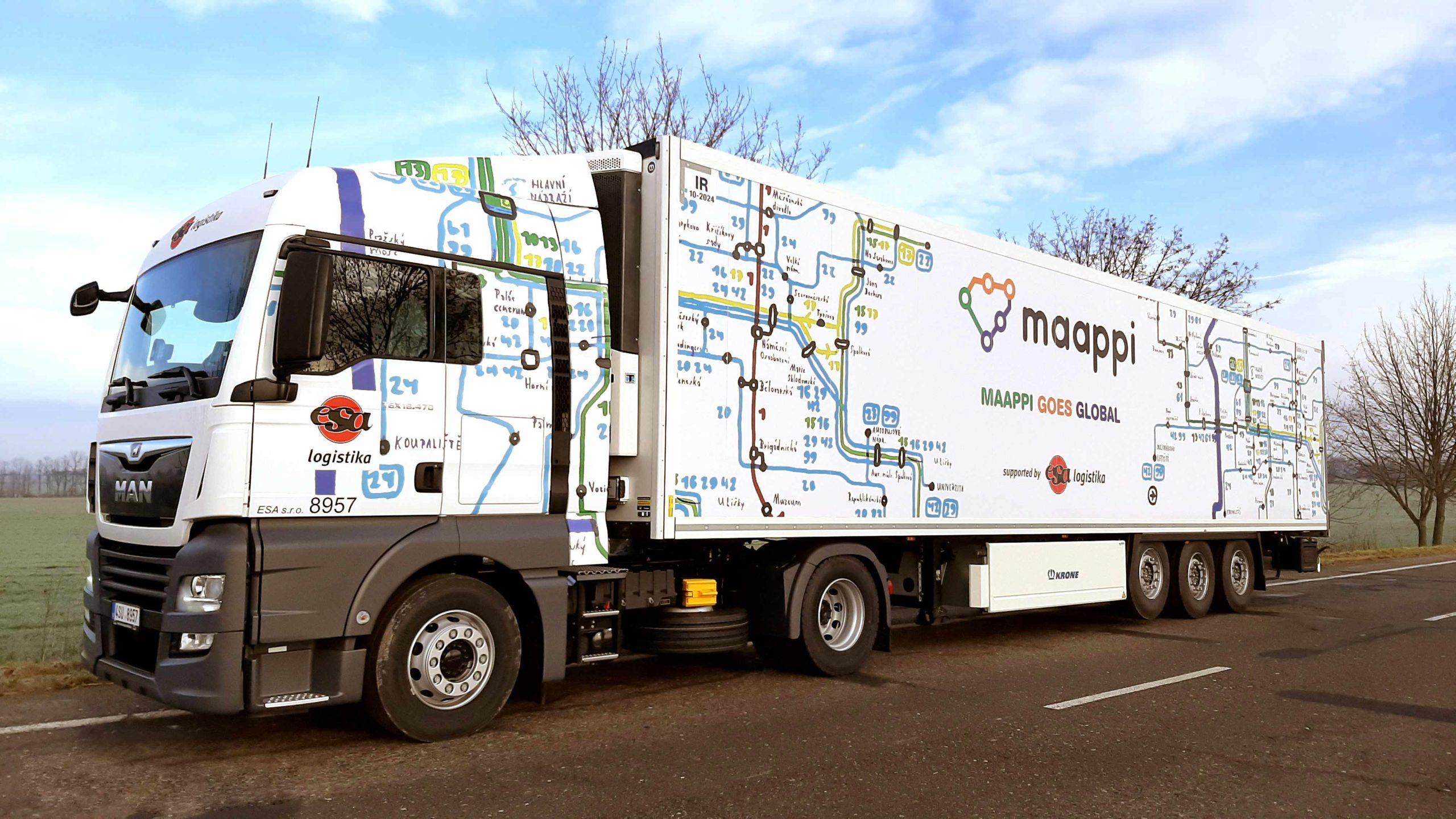 ESA logistika uvedla do provozu kamion v barvách MAAPPI
