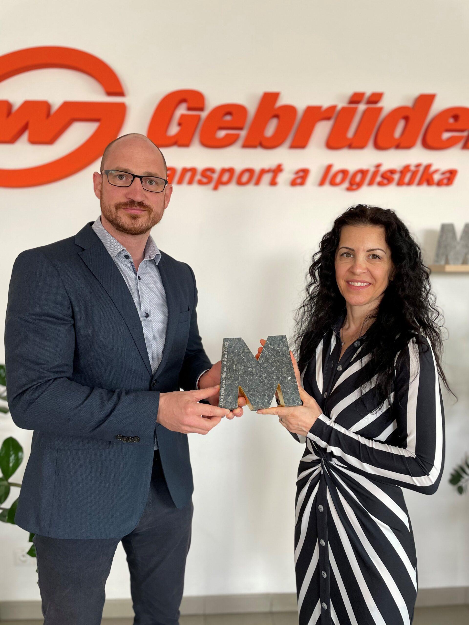 První místo v soutěži marketingu a komunikace pro Gebrüder Weiss ČR