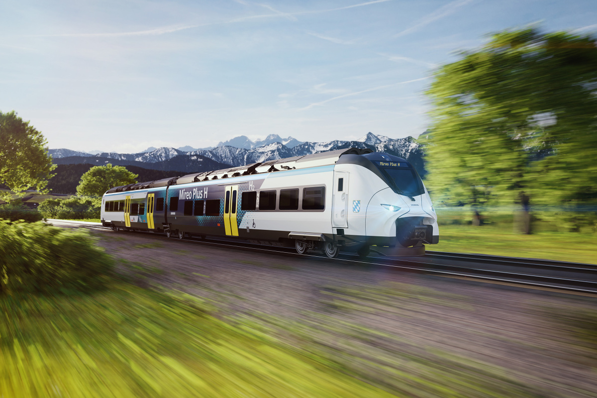 Bavorsko podporuje železniční vodíková vozidla - zkušební provoz v Bavorsku