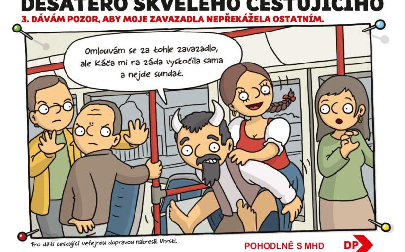 Jak správně cestovat ukáže Karkulka nebo Bystrozraký, dopravní podniky mají novou edukační kampaň